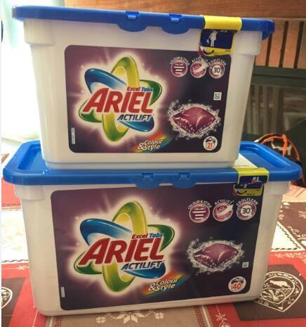 Ariel actilift color & stylex21   7€/unité ou 19€/carton de 3x40 12,5€/unité ou 35€/carton de 3