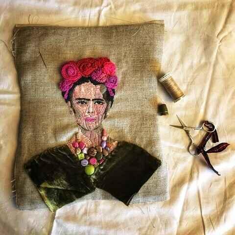 Encadrement de la belle Frida! #encadreur #cadres #cadresurmesure #artisanat #artisan #faitmain #madeinfrance #lyon #art...