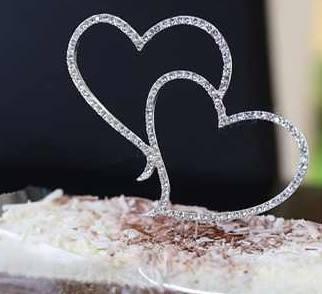 Topo para bolo em formato de coração