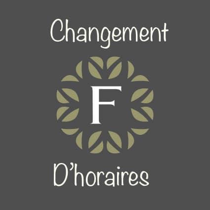 CHANGEMENT D'HORAIRES Votre fromagerie sera désormais ouverte : * Du mardi au jeudi : de 9h30 à 13h30 et de 15h30 à 19h ...