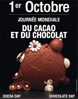 Avis à tous les croqueurs ! C'est aujourd'hui la journée mondiale du cacao et du chocolat. Qu'il soit noir, lait ou blan...