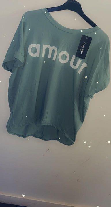 T shirt amour Noir Vert d'eauRose 15 euro